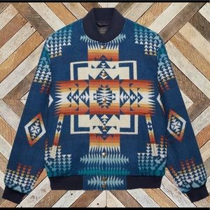 Pendleton Virgin Wool Chief Joseph Bomber Jacket